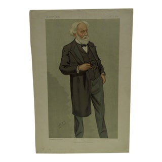 "Vintage Vanity Fair Print - ""Philosophical Pathology"" Dr. Samuel Wilkes, October 1, 1892"