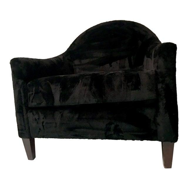 Art Deco Style Faux Mink Fur Club Chair - Image 1 of 6