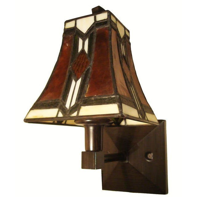Tiffany Arts and Crafts Mission Style Sconces - Image 3 of 6