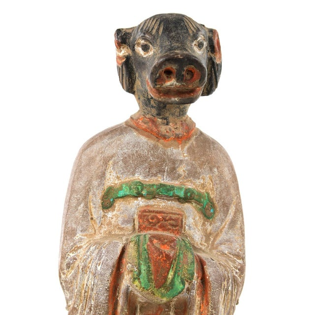 Antique Chinese Zodiac Pig Figurine - Image 6 of 9