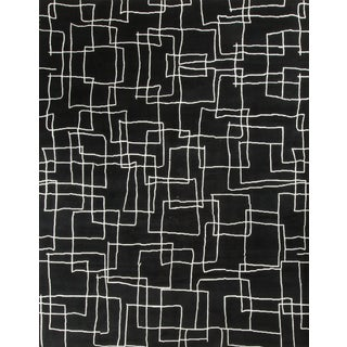 """Contemporary Hand Knotted Wool Rug - 9' X 11'9"""""""
