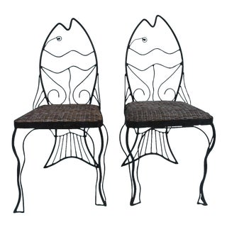 John Risley Style Chairs - A Pair