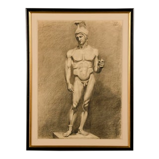 Antique French Life Drawing c.1875