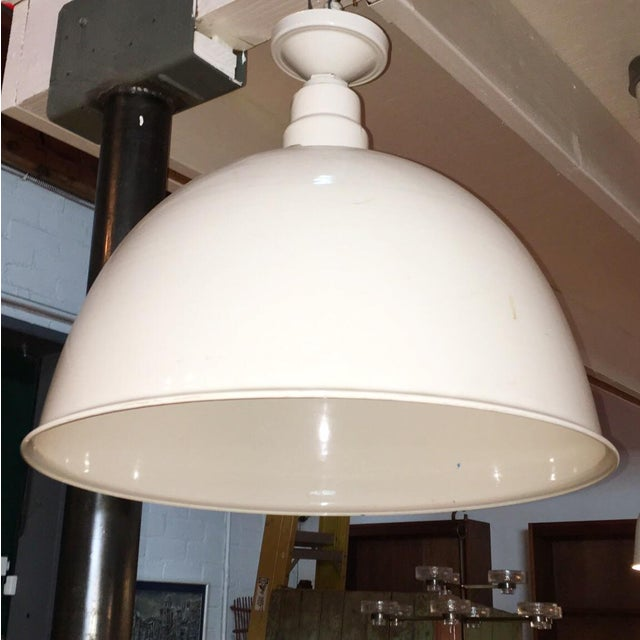 Image of 1960s Industrial White Pendant