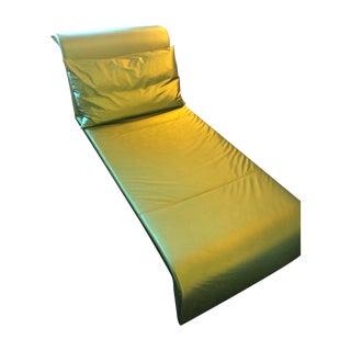 Ligne Roset Green Vinyl Chaise Lounge