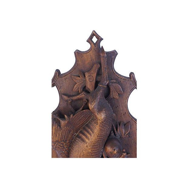 Antique Hand-Carved Hunting Wall Plaque - Image 4 of 6