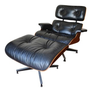 Vintage Eames Herman Miller Rosewood Lounge Chair & Ottoman