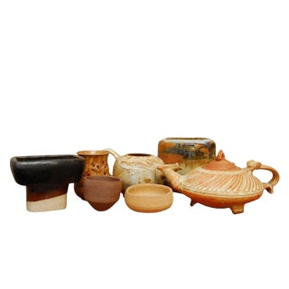 Assembled Studio Pottery - Set of 7