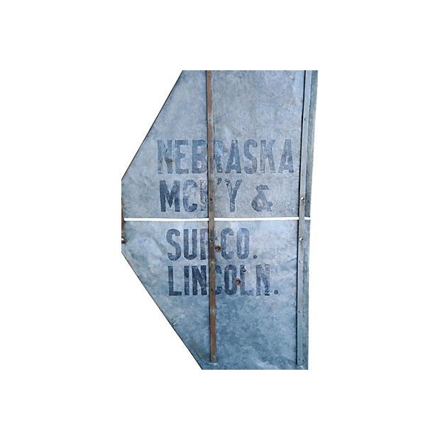 Antique Nebraska Windmill Tail Sign - Image 2 of 6