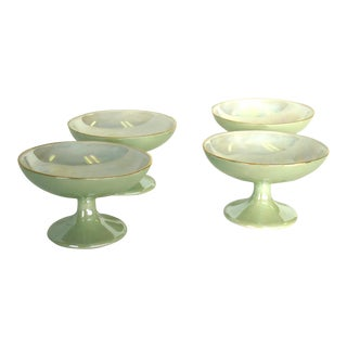 R S Prussia Lustre Dessert Coupes - Set of 4