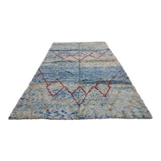 New Tribal Handmade Tulu Moroccan or Shaggy Style Turkish Rug - 8'3 X 11'10""