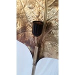 Image of 1970s Tommaso Barbi Brass Leaf Floor Lamp
