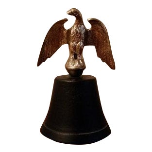 Vintage Cast Iron & Brass Eagle Bell