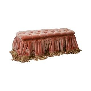 Custom Upholstered Tufted Window Bench