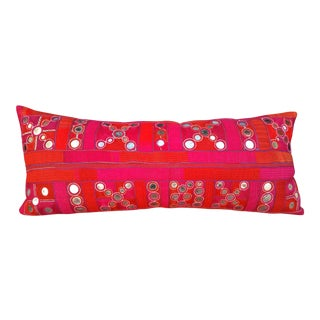 Embroidered Rajasthani Tribal Lumbar Pillow