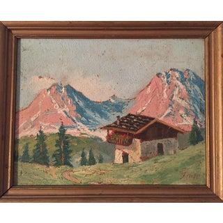 Swiss Alps Painting