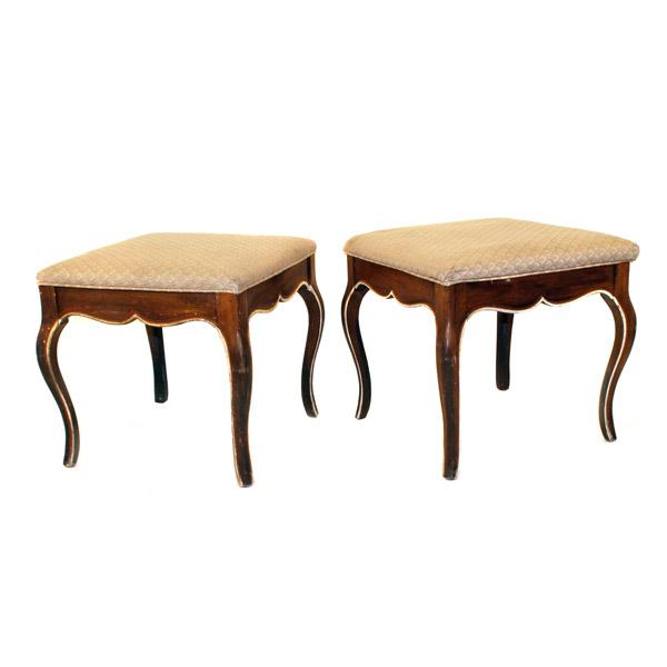 Image of Moroccan Style Foot Stools - Pair