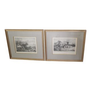 Antique French Views of Tivoli Engravings - A Pair