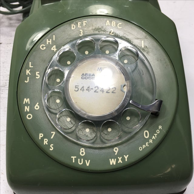 Moss Green Rotary Dial Telephone - Image 9 of 9