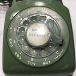 Image of Moss Green Rotary Dial Telephone