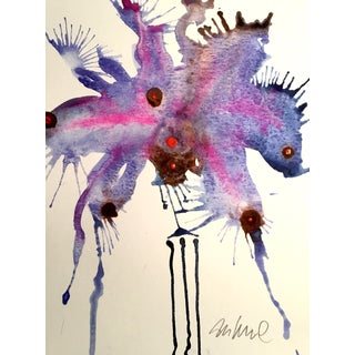 """Violet"" Original Watercolor Painting"