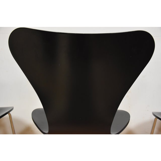 Arne Jacobsen Fritz Hansen Chairs - Set of 4 - Image 6 of 11