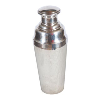 Large cocktail shaker made of sterling silver