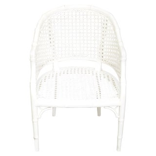 White Bamboo and Cane Chair