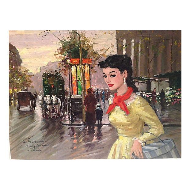 1950's Gerome-Signed Le Madeliane Oil Painting - Image 4 of 6