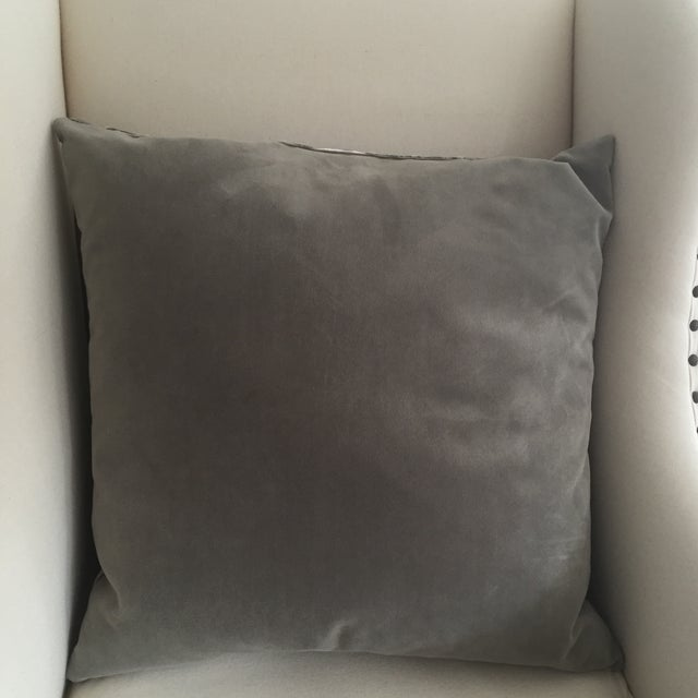 Velvet Pillow with Geometric Pattern - Image 3 of 3