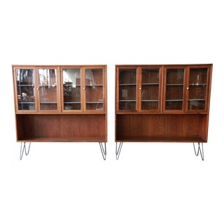 Kipp Stewart for Drexel Declaration Walnut Bookcases - A Pair