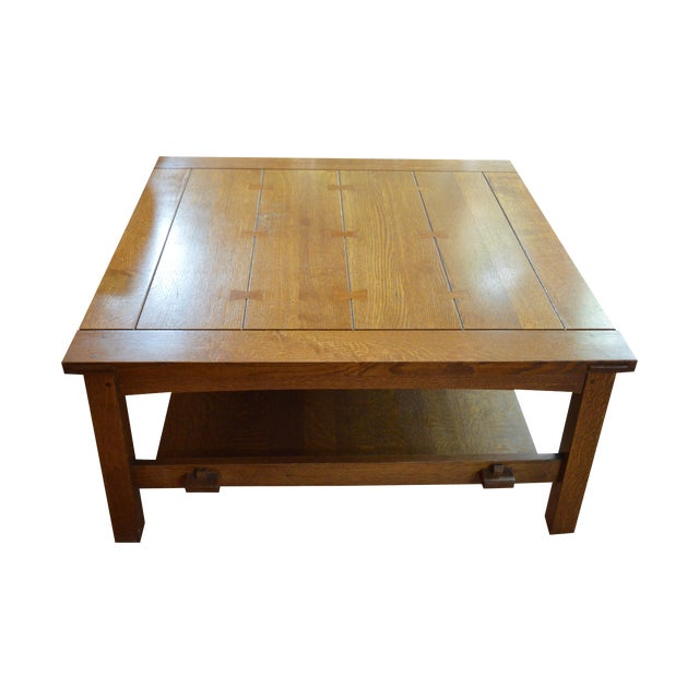 Stickley Butterfly Joint Cocktail Table Chairish