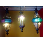 Image of Boho Chic Stained Glass Pendant Lamps - Set of 3