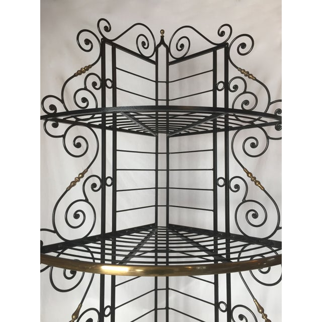 Vintage French Brass And Iron Corner Baker's Rack - Image 7 of 8