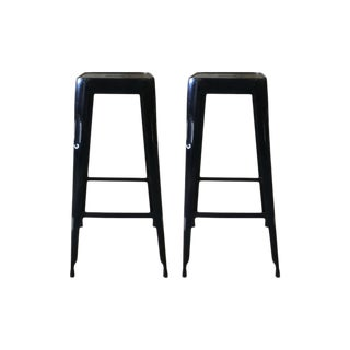 Black Iron Bar Stools - a Pair