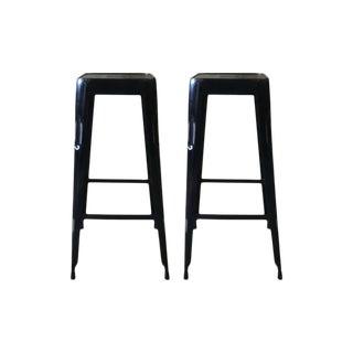 Ditmar Black Iron Bar Stools - a Pair