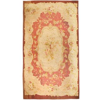 Antique Oversize 19th Century, French Aubusson Carpet