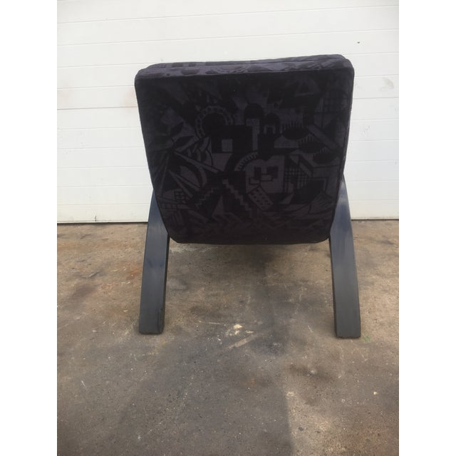 Mid-Century Abstract Upholstered Lounge Chair - Image 7 of 8