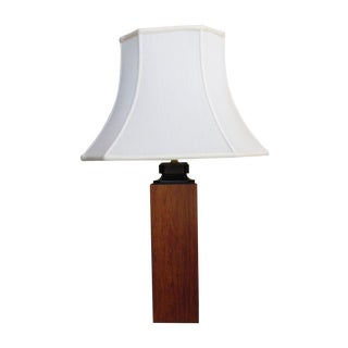 Mid-Century Modern Wooden Lamp
