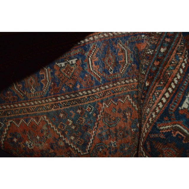 "Distressed Antique Persian Tribal Rug - 3'7"" X 4'9"" - Image 9 of 9"