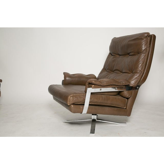 Arne Norell Leather Club Chairs - Set of 2 - Image 4 of 9