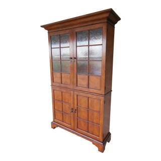 "BAKER Milling Road Arts & Crafts Style 4 Door Bookcase 84""H"