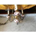 Image of 1950s French Hand Painted Porcelain Chandelier