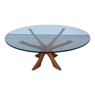 Illum Wikkelsø Danish Teak & Glass Coffee Table