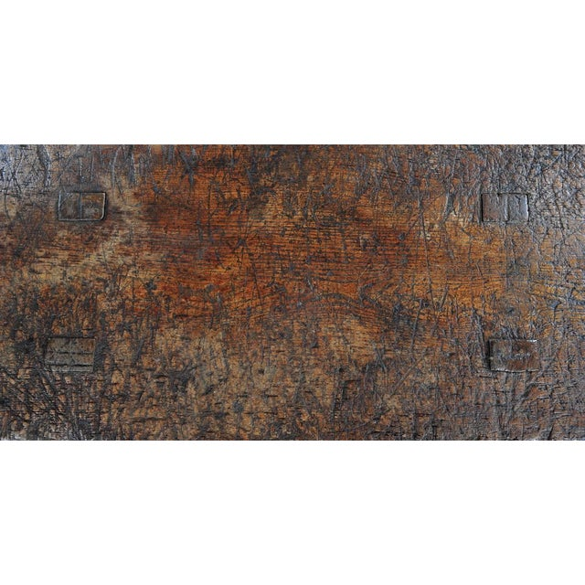 18th Century Antique French Rustic Farm Table - Image 4 of 11