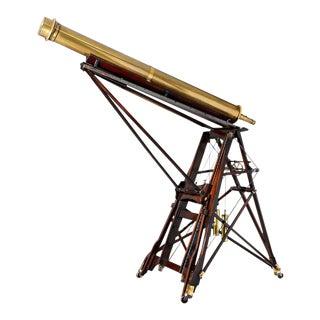 Monumental Swiss Brass Telescope by Perrelet