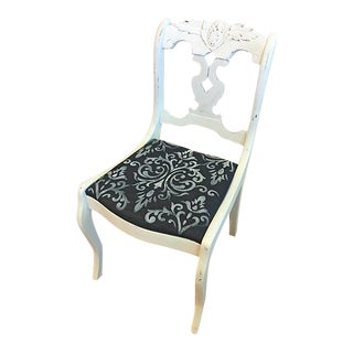 Vintage White & Denim Chair