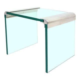 Mid-Century Modern Pace Collection Waterfall Side Table