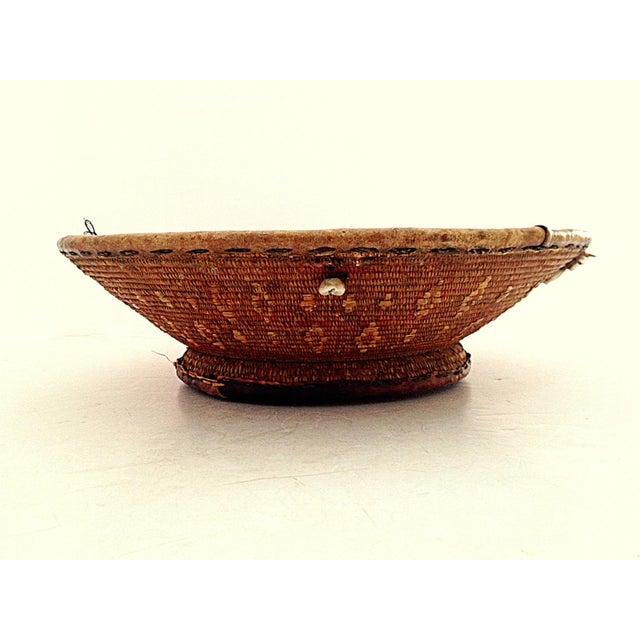 Image of Ethiopian Polychrome Woven Basket