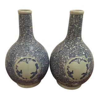 Chinoiserie Large Vases - a Pair
